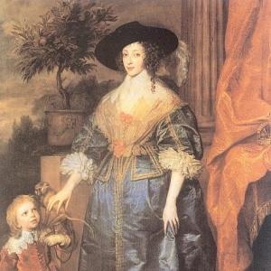 Антон ван Дейк - Королева Генриетта Мария с сэром Джеффри Хадсоном