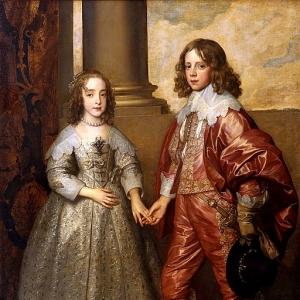 Антон ван Дейк - Вильгельм Оранский с его невестой Марией Стюарт