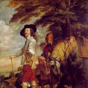 Антон ван Дейк - Английский король Карл I на охоте