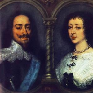 Антон ван Дейк - Английские король Карл I (Англия) и королева Генриетта Мария (Франция)