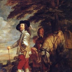 Антон ван Дейк - Карл I, английский король, на охоте