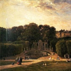 Шарль Франсуа Добиньи - Парк в Сен-Клу