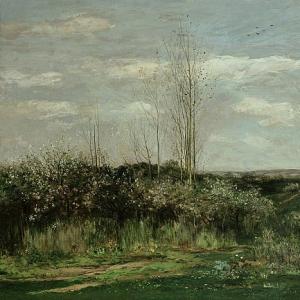 Шарль Франсуа Добиньи - Весенний пейзаж