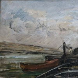 Шарль Франсуа Добиньи - Баржи на реке
