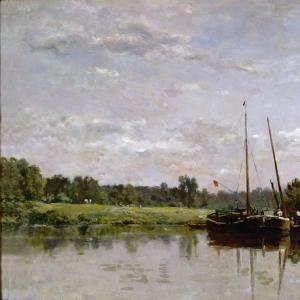 Шарль Франсуа Добиньи - Лодки на Уазе