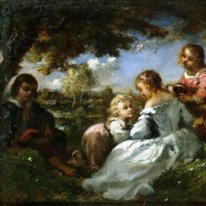 Нарсис Виржиль Диаз де ла Пенья - Дети в саду