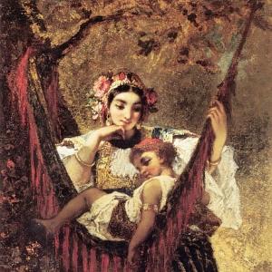 Нарсис Виржиль Диаз де ла Пенья - Мать и дитя