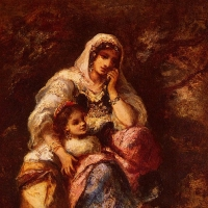 Нарсис Виржиль Диаз де ла Пенья - Цыганка и ее дитя