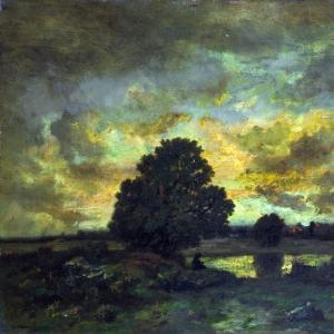 Нарсис Виржиль Диаз де ла Пенья - Пустырь с рассветом, предвещающим бурю