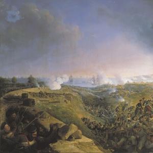 Инженерная атака крепости Варна саперным батальоном 23 сентября 1828 года. (1836)