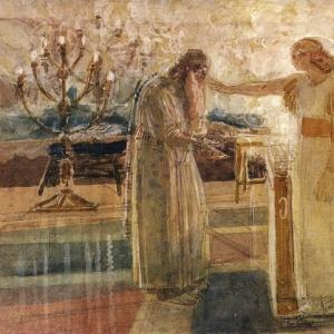Архангел Гавриил поражает Захарию немотой.