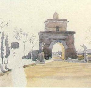 Вид на Понте Молле близ Рима.