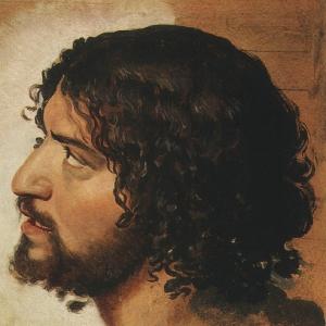 Голова дрожащего молодого мужчины, в повороте