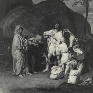 Братья Иосифа находят чашу в мешке Вениамина