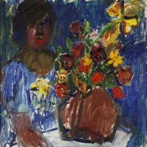 Иван Иварсон - Женщина с цветами