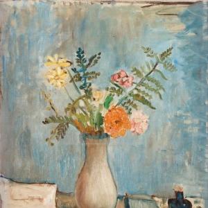 Иван Иварсон - Натюрморт с цветами в вазе