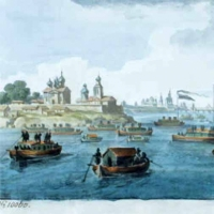 Иванов Михаил Матвеевич - Вид Новгорода со стороны озера Ильмень