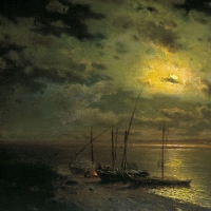 Лунная ночь на реке