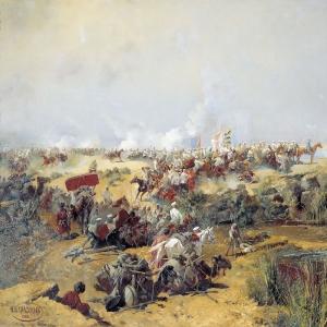Переправа туркестанского отряда через Аму-Дарью в 1873 году.