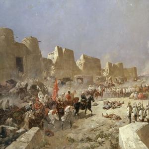 Вступление русских войск в Самарканд 8 июня 1868 года.