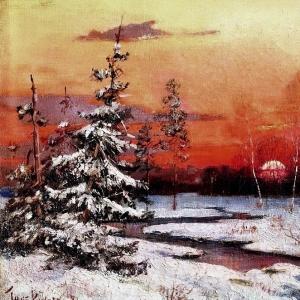 Клевер Юлий - Зимний пейзаж