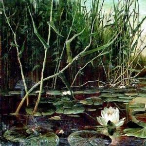 Клевер Юлий - Озеро с водяными лилиями