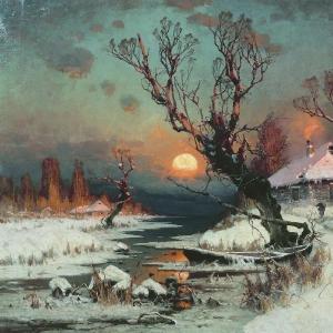 Закат солнца зимой (2)