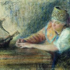 Куликов Иван - Задумалась. 1906