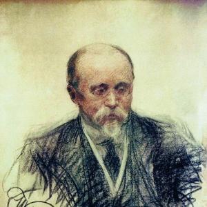 Куликов Иван - Портрет М.О.Меньшикова. 1914