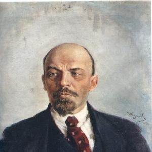Куликов Иван - Портрет Ленина. 1924