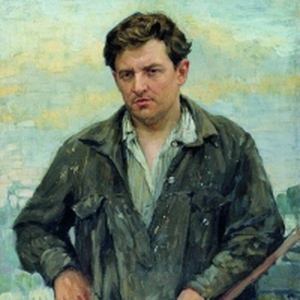 Куликов Иван - Маляр М.И.Шамилин. 1929