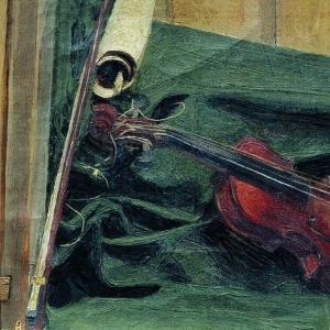 Куликов Иван - Натюрморт со скрипкой. 1890