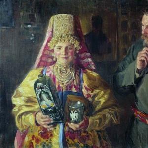 Куликов Иван - С праздником (Зарделась). 1911