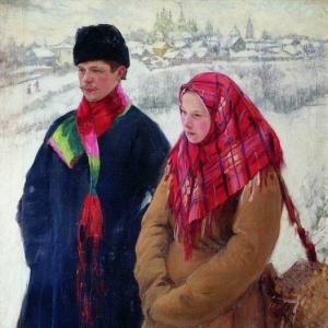 Куликов Иван - Возвращение из города. 1914