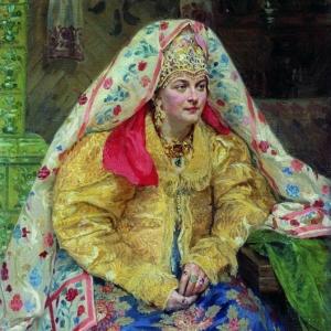 Куликов Иван - В русском наряде. 1916