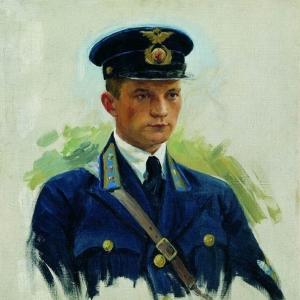 Куликов Иван - Портрет летчика М.М.Матвеева. 1940