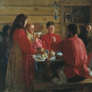 В крестьянской избе