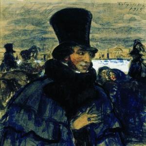 А.С.Пушкин на набережной Невы