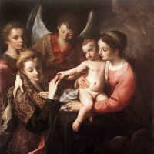 Караччи Аннибале - Мистическое обручение Св. Катерины