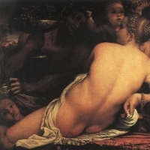 Караччи Аннибале - ВЕНЕРА С САТИРОМ И КУПИДОНАМИ, 1588