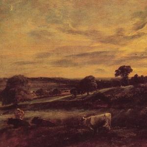 Джон Констебл - Вечерний пейзаж