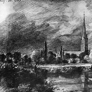 Джон Констебл - Кафедральный собор Солсбери 1