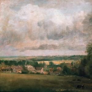 Джон Констебл - Деревня Хайэм на реке Стур