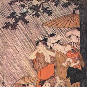 Китагава Утамаро - Ливень 1