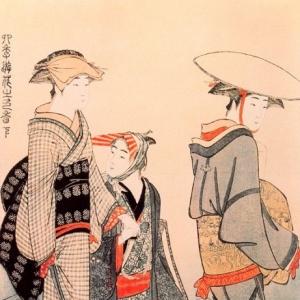 Китагава Утамаро - Общение