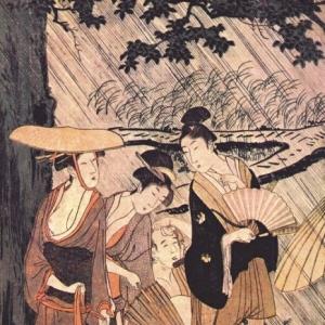 Китагава Утамаро - Ливень 2