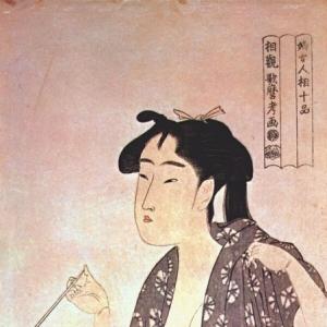 Китагава Утамаро - Курящая женщина