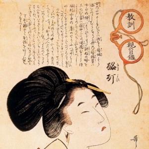 Китагава Утамаро - Опьяненный куртизанкой
