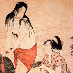 Китагава Утамаро - Ныряльщица за жемчугом
