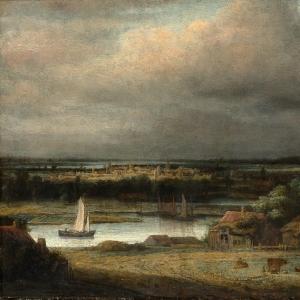 Конинк Филипс - Пейзаж широкой реки